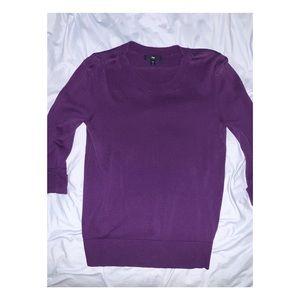 Gap purple sweater 3/4 sleeves